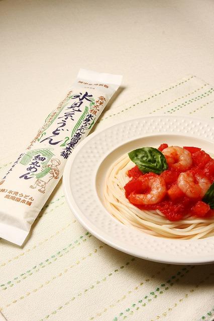 調理例: トマトソースの冷製パスタ風